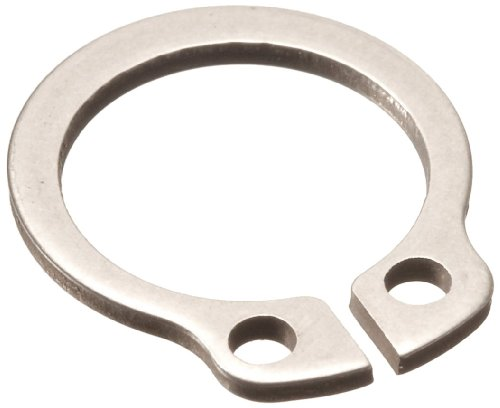 Standard External Retaining Ring, Tapered Section, Axial Assembly, DIN 1.4122 Stainless Steel, Passivated Finish, Meets DIN 471 Specifications, 15mm Shaft Diameter, 1mm Thick, Made in US (Pack of 5)