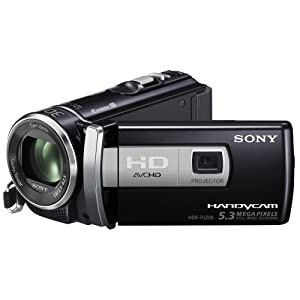 Sony HDRPJ200 Camescopes a memoire Flash avec projecteur integre Port SD-Memory Stick Full HD 5,3 Mpix Zoom optique 25x Noir
