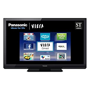 Panasonic VIERA TC-P65ST30 65-Inch 1080p 600 Hz 3D Plasma HDTV with 3D Image Viewer, Viera Connect, 3D 24p Cinema Smoother, 3 USB Connections
