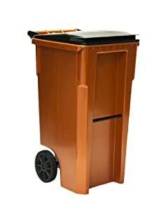 35 Gallon Copper Color Heavy Duty Outdoor Trash Can With Wheels