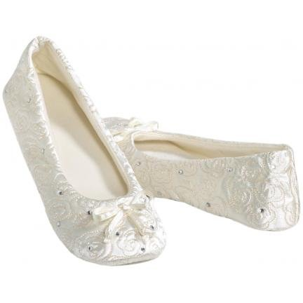 Cheap Totes Rosalee Bridal Slippers Ivory (B007IJS6AW)
