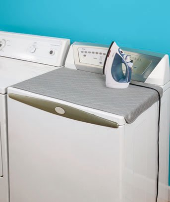 """Travel Compact Quilted Laundry Room (4 Bottom Magnets) Ironing Mat Pad 19"""" X 32"""""""