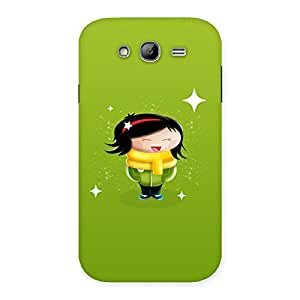 Stylish Laughing Cute Girl Print Back Case Cover for Galaxy Grand