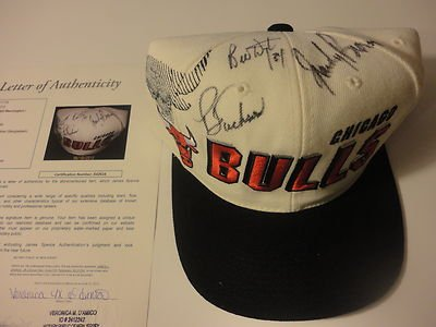 Phil Jackson Loa Signed Autograph Throwback Snap Back Bulls Hat Authentic - JSA Certified - Autographed NBA Hats