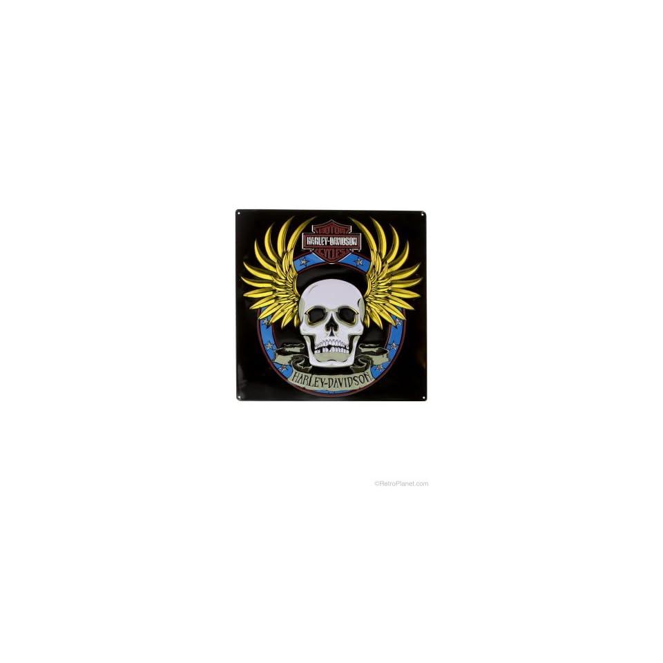 #2010751 Ande Rooney Harley Davidson H D Spade Skull Metal Sign