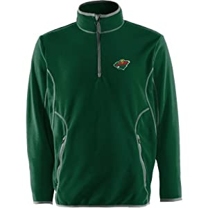 NHL Minnesota Wild Men's Ice Pullover, Dark Pine/Steel, Large
