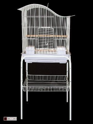 Cheap Posh Pets Bird Cage Swiss Cottage And Stand (White) Budgies Canary Cockatiel Cages (99613/C1)