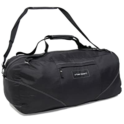 Members Foldable 104 Litres Cargo Backpack Holdall (Black) by Karabar