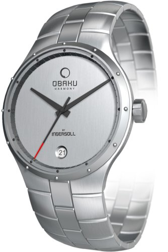 Obaku By Ingersoll Gents Silver Dial Stainelss Steel Bracelet Watch