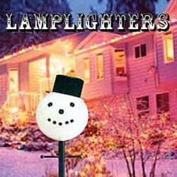 Snowman Head Christmas Outdoor Light lightpost / Lamppost Cover