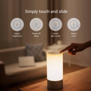 Smart4Card Original Xiaomi Yeelight Bedside Lamp RGB Wireless Touch Control Night Light For Cellphone