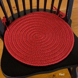 Amazon Bold Braided Chair Pad Red Red Chair Pad Home