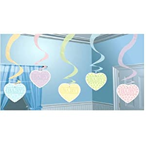 Cute as a Button Hanging Swirl (3 ct) Hanging Swirls (5 per package)