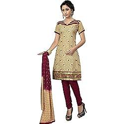 ZofianaFashions Cotton Embroidered Salwar Suit Dupatta Material (POS15)