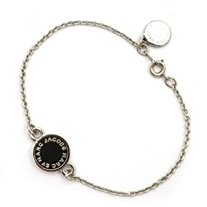 marc by marc jacobs enamel disc logo bracelet black silver jewellery. Black Bedroom Furniture Sets. Home Design Ideas