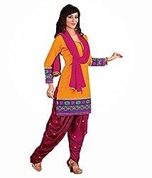 Sinina Women's Cotton Unstitched Dress Material (RH2CH8_Multi_Free Size)