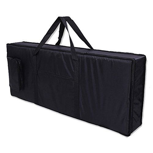 Big Save! Sel Natural 61 Key Keyboard Electronic Piano Bag Case Carry Oxford Cloth Black