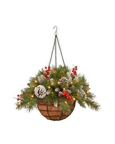 """National Tree Company 20"""" Frosted Berry Hanging Basket"""