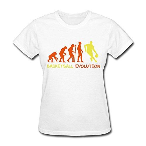 Zhitian Women'S Evolution Basketball 1 T-Shirt - L White