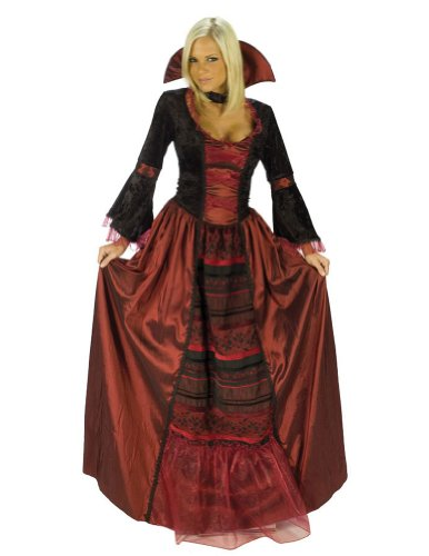Adult-Costume Vampire Queen Sm/Md Halloween Costume - Adult Small-Medium
