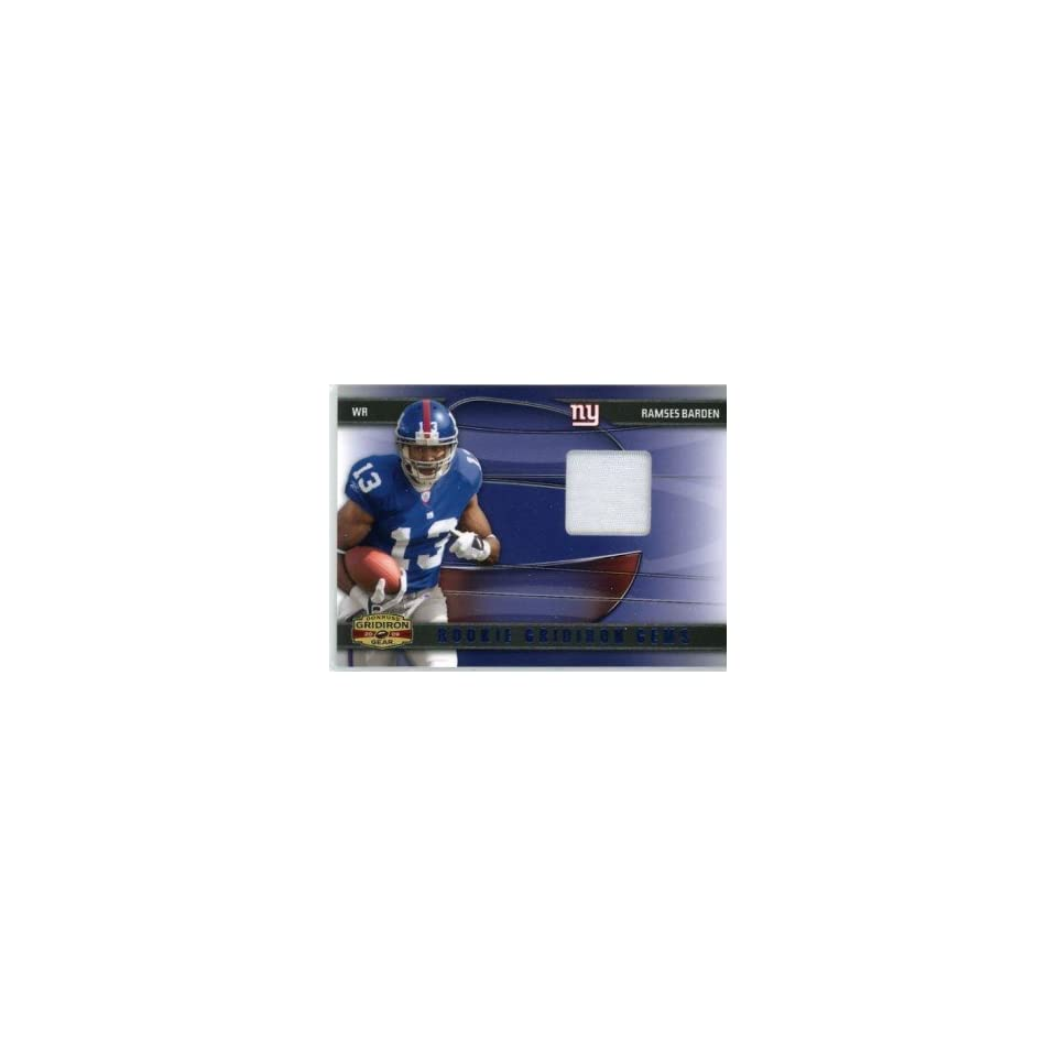 Ramses Barden New York Giants 2009 Donruss Gridiron Gear Rookie Gems