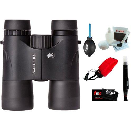 Eagle Optics Shrike 8X42 Roof Prism Binocular Rgr-4208 + Foam Float Strap + 5-Piece Cleaning Kit + Cleaning Cloth + Dust Blower + Cleaning Pen