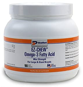 EZCHEW Omega3 Fatty Acid for Large Giant Breeds (90 Soft Chews)
