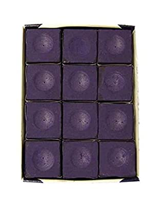 Silver Cup Pool Table Chalk in Purple - 12 Pc Set