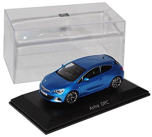 opel-astra-gtc-opc-j-ab-2009-coupe-blau-1-43-motorart-modell-auto-mit-individiuellem-wunschkennzeich