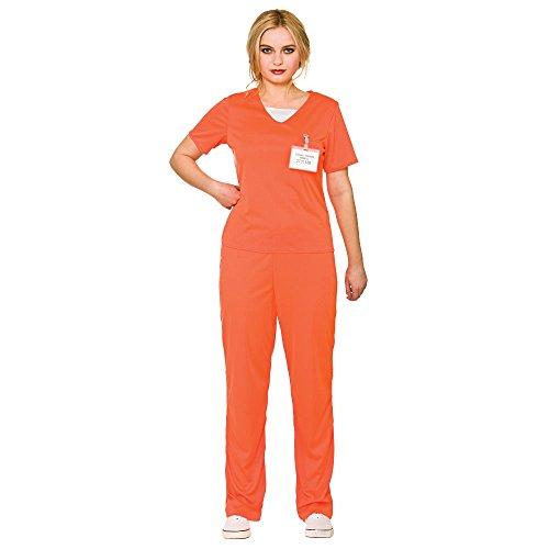 adults-womens-orange-convict-prisoner-shirt-trousers-fancy-dress-costume-small