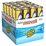 Maxell 723849 LR03 20MP AAA Cell 20-Pack Brick Battery