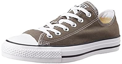 Converse Unisex Charcoal Canvas Sneakers - 10 UK