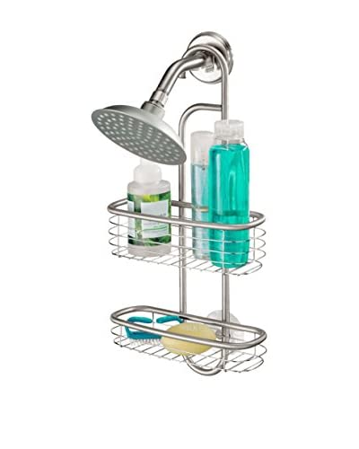 InterDesign Forma Shower Caddy, Brushed Stainless Steel