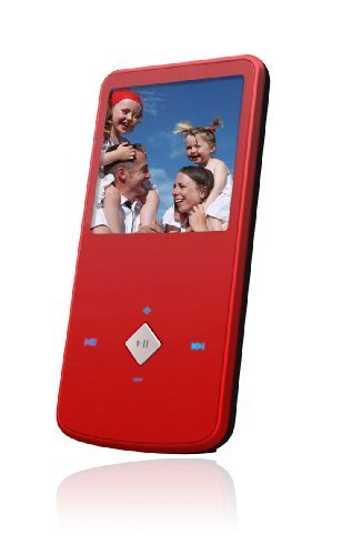 Ematic EM164VIDR 1.5-Inch 4 GB MP3 Video Player (Red)