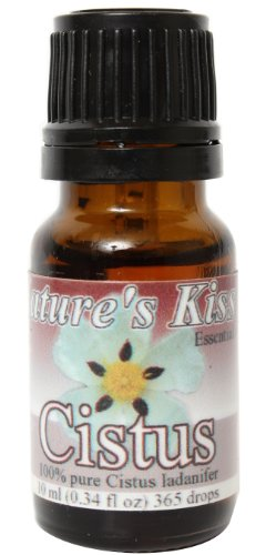 Nature's Kiss 100-Percent Pure Extremely High Quality Therapeutic Grade Cistus Essential Oil, 0.34-Ounce