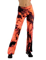 Margarita Activewear Fuego Batik Tie Dye Patterned Long Pants
