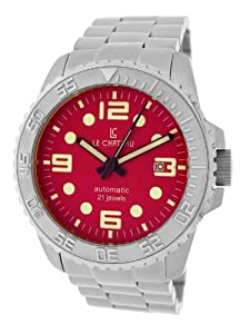 Le Chateau Men's 7083mssmet_red Sport Dinamica Automatic See-Thru Watch