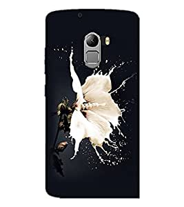 PrintDhaba Flower D-2259 Back Case Cover for LENOVO K4 NOTE A7010 (Multi-Coloured)