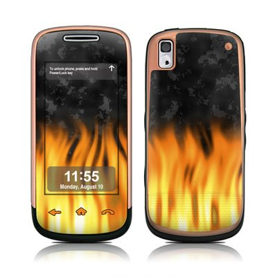 BBQ Flames Design Skin Decal Sticker for the Samsung Instinct S30 Cell Phone