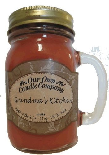 13oz GRANDMA's KITCHEN Scented Jar candle (Our Own Candle Company Brand) Made in USA - 100 hr burn time
