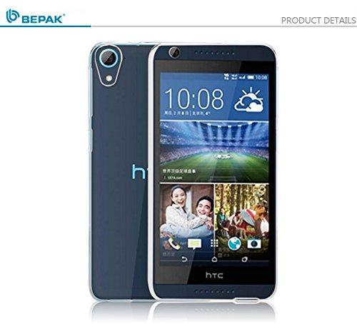 BEPAK Premium Crystal Clear Transparent Hard Slim Bumper Back Case Cover For HTC Desire 626G Plus (626G+)