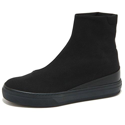 0765O stivaletto TOD'S TRONCHETTO STRECHT nero stivaletti donna boots woman [37]