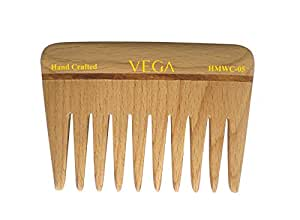 Vega Wide Tooth Wooden Comb