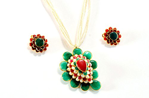 Avsjewellers Pearl Pendant Set For Women (Multi-Color) (multicolor)