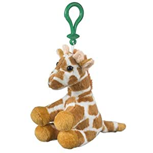 Wildlife Artists Stuffed Giraffe Clip Toy Keychain By Wild Life Artist