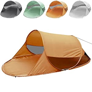Strandmuschel (Farbwahl) Pop-Up Wurfzelt für 2 Personen ca. 245x145x95cm UV Schutz