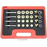 24pc Oil Pan Drain Plug Thread Repair Kit Metric Tool M13 M15 M17 M20