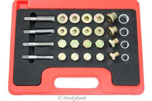 24pc Oil Pan Drain Plug Thread Repair Kit Metric Tool M13 M15 M17 M20 (Oil Pan Drain Plug Repair Kit compare prices)