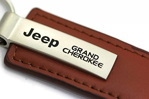 jeep-grand-cherokee-leather-key-chain-brown-rectangular-key-ring-fob-by-au-tomotive-gold-inc