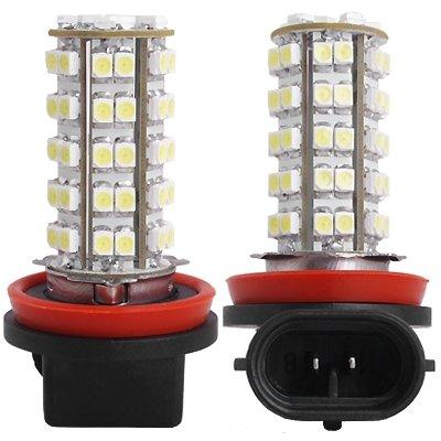 2 H11 Car Super Bright White 68 SMD LED Fog Light Bulbs